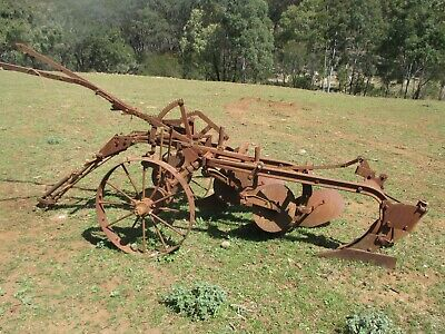 Horse drawn plough