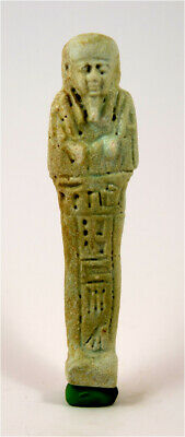 Egypt Late period 28/30th dynasty faience ushabti of Ptah-Hotep.