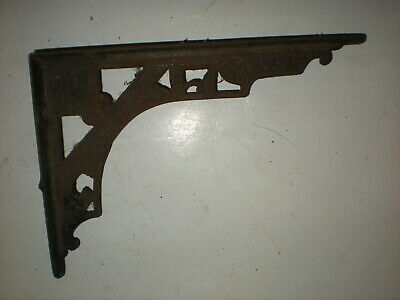 1 Antique Victorian Eastlake Aesthetic Style Cast Iron Shelf Bracket vtg