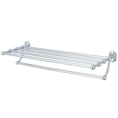Water Creation Towel Bar and Bath Train Rack in Triple Plated Chrome 29 in.
