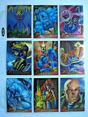 1995 Fleer Ultra *X-Men Chromium* Complete 100 Card Base Set + 2 Promos