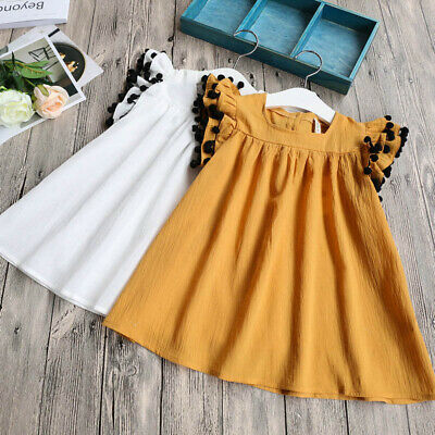 Toddler Kid Baby Girl Summer Lace Dress Princess Party Pageant Dresses Sundress