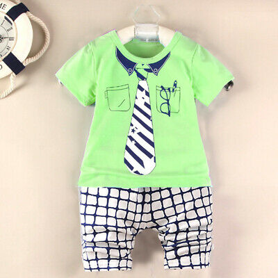 Shirt Outfit Tops+Shorts Pants Childs Baby Newborn Girls Toddlers Round Neck