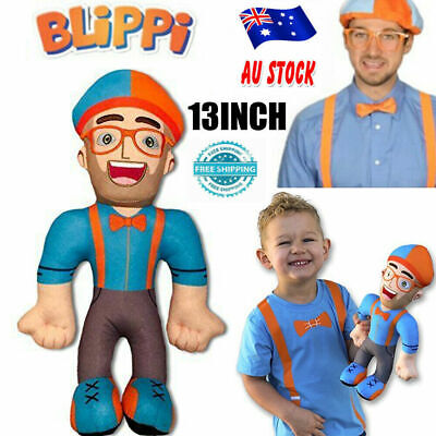 Blippi for Stuffed Figure Toy Plush Soft Doll Kids inch 13 Gift