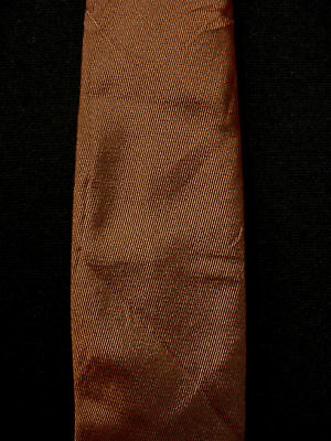 Vintage 1950'S-1960'S Silk Brown/Black Narrow Tie