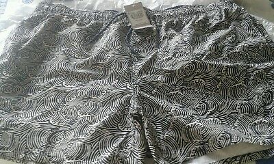 Mens swimming trunks / shorts XL blue and white surf patter new holiday or pool