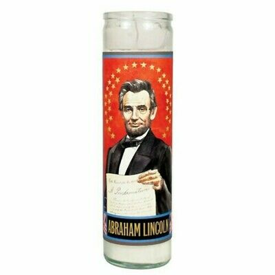 🇺🇸 The Unemployed Philosophers Guild - Lincoln Secular Saint Candle Glass.