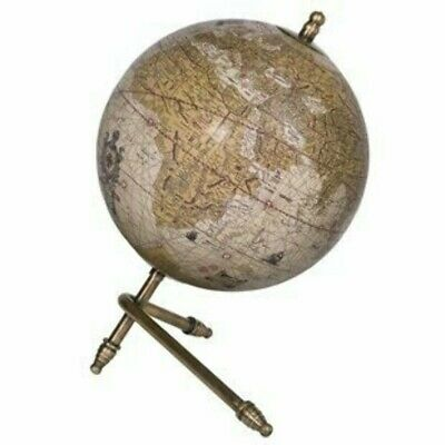 Decorative Globe with Support Bars Gold. Educational World Map. Home Decor.