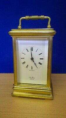 St James of London, Brass Carriage Clock with key.