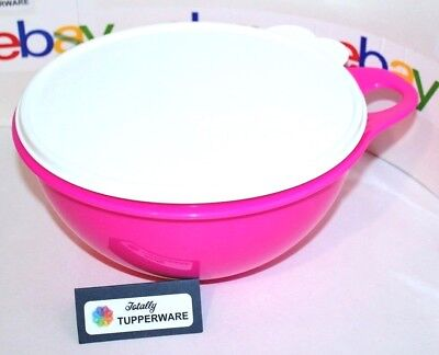 Tupperware Bowl Thatsa Jr. 12 Cup Mixing & Serving Neon Pink with White Seal ❤️