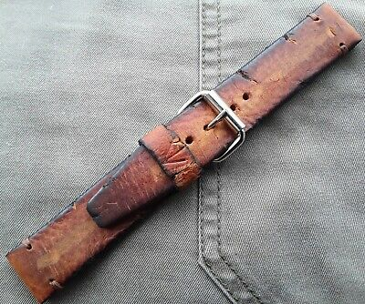 Hard as nails distressed vintage military ww1 ww2 leather watch strap, all sizes