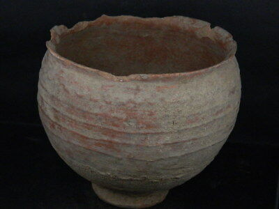 Ancient Large Size Teracotta Drinkging Cup Bactrian 300 BC #Ik517