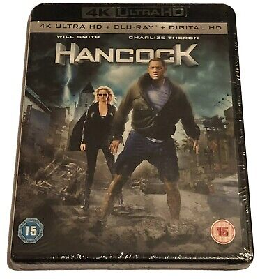 Hancock 4K Ultra HD Blu-Ray (New & Sealed) Digital HD 2 Discs