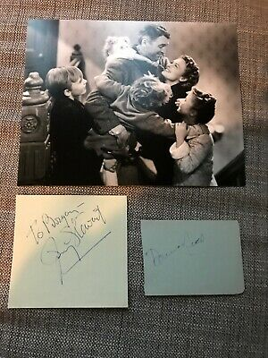 Donna Reed James Jimmy Stewart It's A Wonderful Life Signed Authentic Autograph