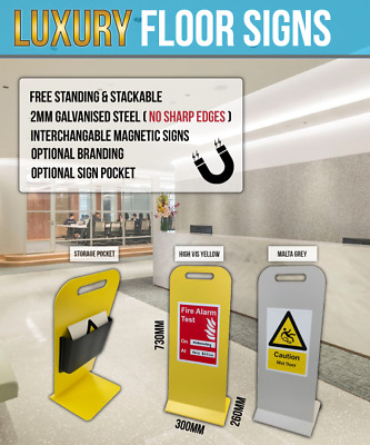 Professional Wet Floor Warning Caution Hazard Safety Sign Cleaning Magnetic