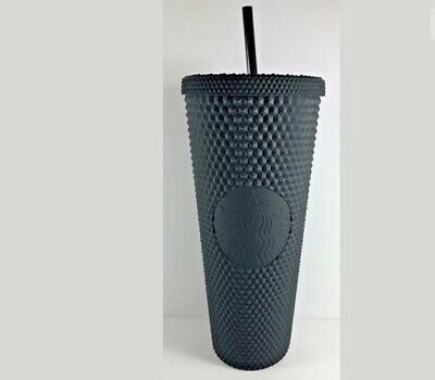 RARE Starbucks Matte Black Gothic Studded Diamond FALL 2019 Tumbler 24oz w/ SKU