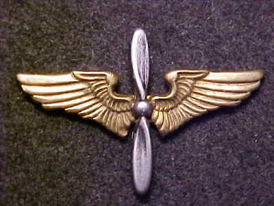 Rare Ww2 Us Army Air Corps Officer Clutchback 1-1/8 Collar Wings Marked Amico