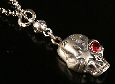 China 925 Silver Hand Carved Skull Statue Pendant Pendant Exclusive Custom Old