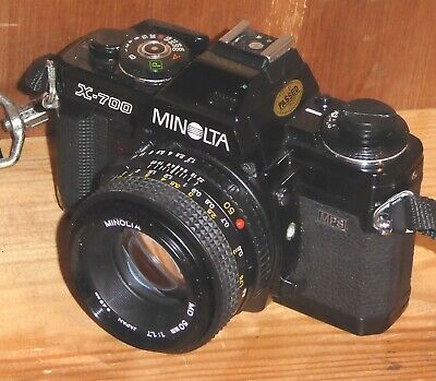 Minolta X700 SLR, with Minolta MD 50mm f1.7 lens