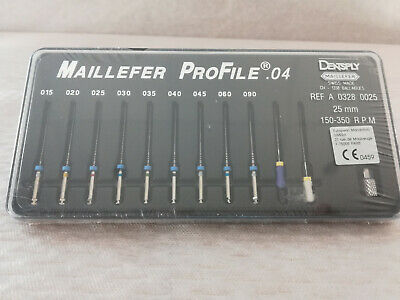 Dentsply Maillefer 11x ProFile 0.4 REF A 0328 0025 25mm + A 0328 0031 31mm