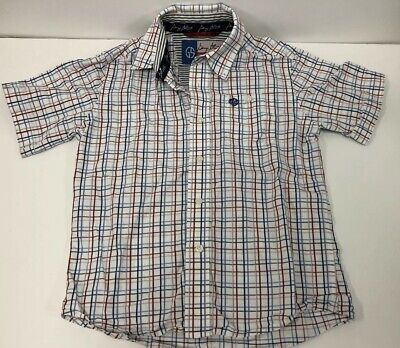 WRANGLER Boys Cowboy Cut Collection Short Sleeves Shirt Plaid Size M