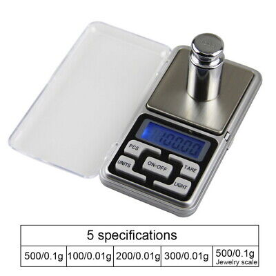 Pocket Scale Small Mini Digital Electronic LCD Weighing Weight 0.01g- 500g AU