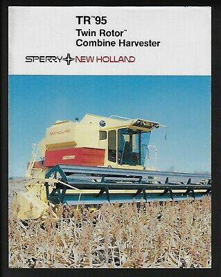 Sperry New Holland Tr 95 Twin Rotor Combine Harvester 4 Page Brochure