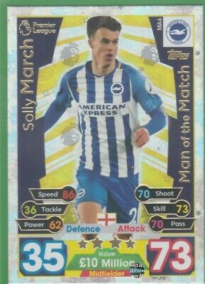 2017/2018 Match Attax Extra Man Of The Match MA6 Solly March BHA