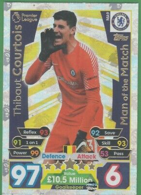 2017/2018 Match Attax Extra Man Of The Match MA9 Thibaut Courtois Chelsea