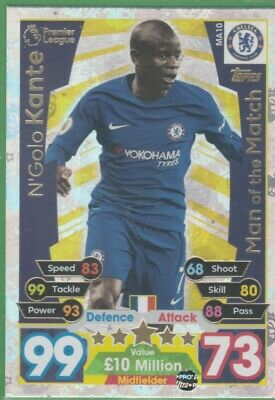 2017/2018 Match Attax Extra Man Of The Match MA10 N'Golo Kante Chelsea