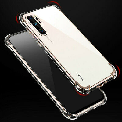 For Huawei P Smart P30 Pro Shockproof Transparent Clear Silicone Case Cover New
