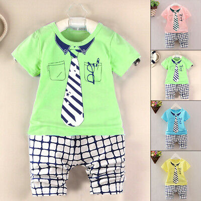 Shirt Outfit Tops+Shorts Pants Childs Baby Kids Newborn Round Neck Short Sleeve