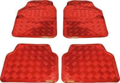 Tapis de sol  alu carbon  rouge auto voiture tuning chrome rouge