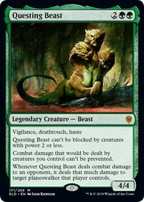 QUESTING BEAST Throne of Eldraine MTG Green Creature - Beast Mythic