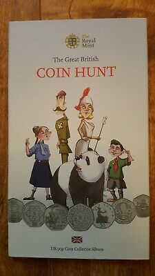 Great British Hunt 50p Album full complete with genuine Kew Gardens coin 🇬🇧