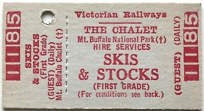 VR Ticket - MT. BUFFALO CHALET - Skis and Stocks (First Grade)  - Daily Hire