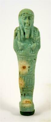 Egypt Late Period 26th-30th Dynasty blue glazed shabti for Pasinebu.