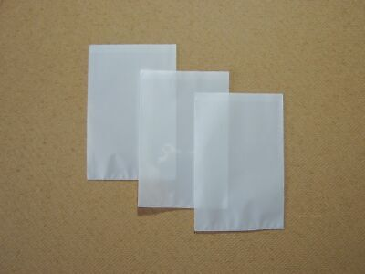 50 Clear Front Opaque Back Storage Envelopes - Acid Free - 80mm x 115mm