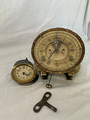ANTIQUE Ansonia Clock Co MANTLE WALL CLOCK MOVEMENT + mantle clock movement