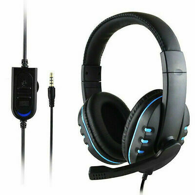 3.5mm Gaming Headset Mic Stereo Surround Headphone Wired For PS4 Xbox PC Xboxone
