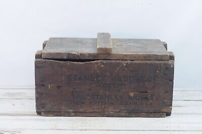 *Antique/Vintage Wood Shipping Crate STANLEY Hardware Advertising Hardware Store