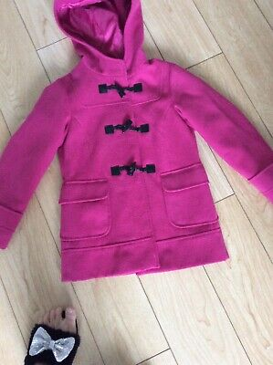 Next Girls Age 7/8 Pink Duffle Coat