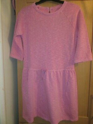 Bnwt Next Girls Age 12 Years Pink 3/4 Sleeve Dress