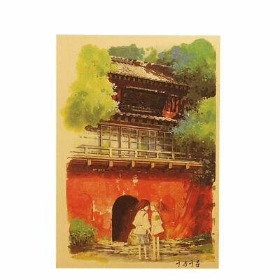 Classic Cartoons Film Poster Home Decor Wall  Spirited Away Style Kraft Papers