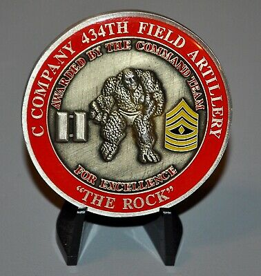 US Army C Company 434th Field Artillery Training Support Challenge Coin