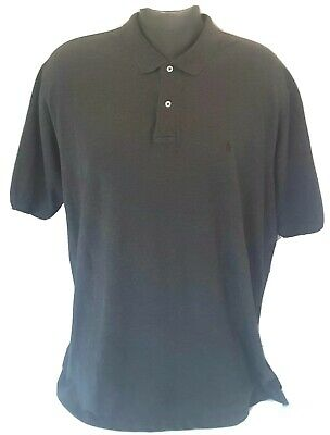 Polo Ralph Lauren Short Sleeve Golf Shirt Mens 2XL XXL Charcoal 100% Cotton