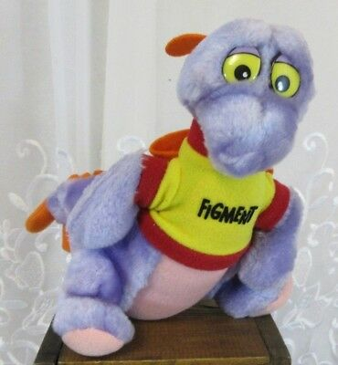 "New Walt Disney World Figment 1982 Plush Doll 7"" Tall Disneyland Epcot Dragon"