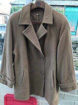 Pure Collection Wool Cashmere Camel Coat Ladies Size 16 Box42 07 A