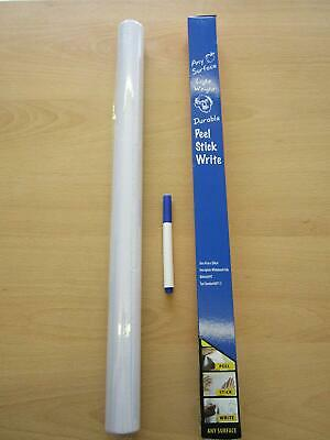 Large Roll of Vinyl Whiteboard Dry Wipe Stick On Board Decal Retail Shop Display