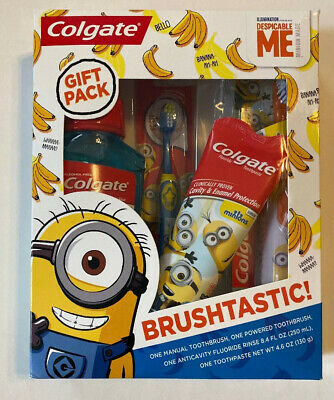 Colgate Kids Toothbrush Toothpaste Mouthwash Gift Set Despicable ME Minions